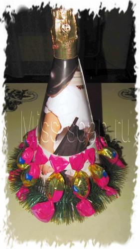 Елка из шампанского своими руками пошаговое фото