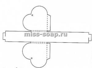 схема упаковочной коробки сердце