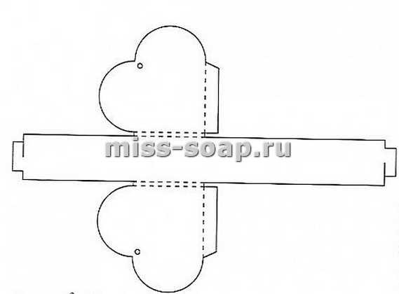 схема упаковочной коробки